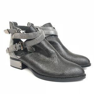Jeffrey Campbell Everly Metallic Gray Ankle Boot 8